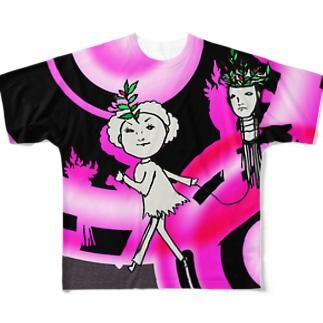 タコアゲの少女 Full graphic T-shirts