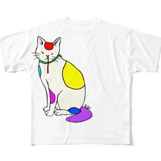 背筋良い猫 Full Graphic T-Shirt