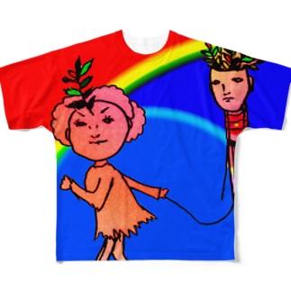 タコアゲ少女、虹の空2 Full graphic T-shirts