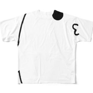 心臓をみつめる口 Full graphic T-shirts
