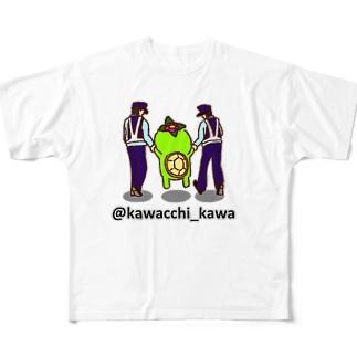かわっち(川口市非公認キャラ)のかわっち2017-15 All-Over Print T-Shirt