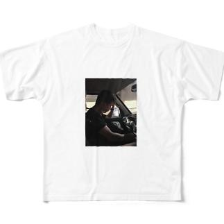 助手席でお昼寝 Full graphic T-shirts
