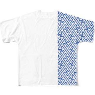 cogin+T No.005 卍繋ぎ 手刺しこぎん刺し Full Graphic T-Shirt