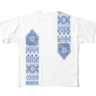 cogin+T No.001 手刺しこぎん刺し Full Graphic T-Shirt