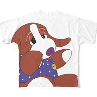 いぬわんたんフルグラフィックTシャツ Full graphic T-shirts
