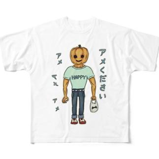 ハロウィン アメください ・改 Full graphic T-shirts