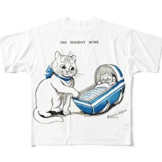 THE HOLIDAY HOME✜Louis Wain E✜Louis Wain  All-Over Print T-Shirt
