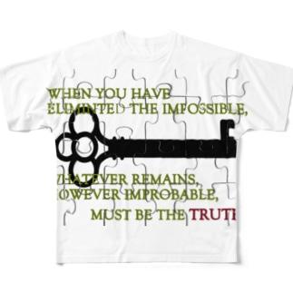 世界一の名探偵 Full graphic T-shirts