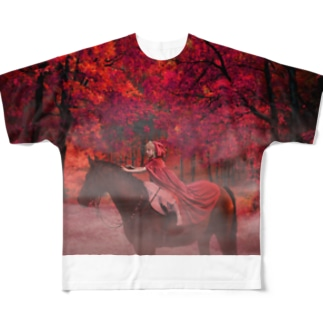 Red forest(赤い森) Full Graphic T-Shirt
