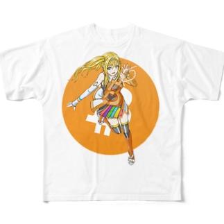 ビットコインちゃん Full graphic T-shirts