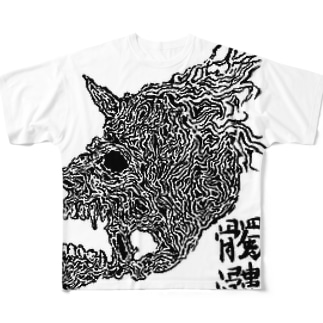 妖髑髏グッズ Full graphic T-shirts