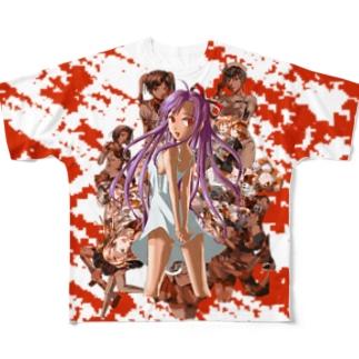 デス・フル・ハートフル Full graphic T-shirts