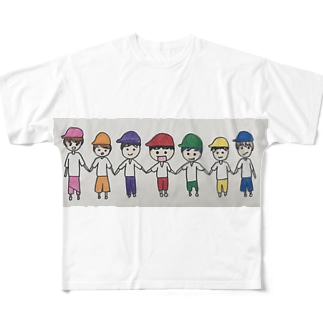 虹色boys Full graphic T-shirts