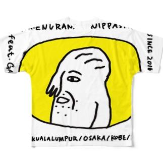 顔面占いニッパシ館 Full graphic T-shirts