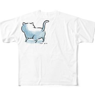 後ろ姿。 Full Graphic T-Shirt