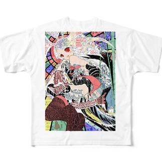 ハラキリガール(Harakiri Girl) Full graphic T-shirts