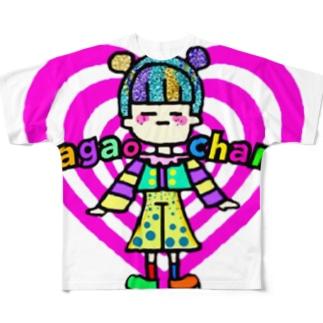 💖😑まがおちゃん シリーズ😑💖 Full graphic T-shirts