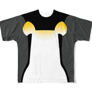 皇帝ペンギンなりきりTシャツ Full graphic T-shirts