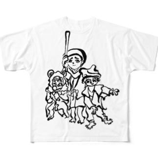 トリオトリオトリオ Full graphic T-shirts