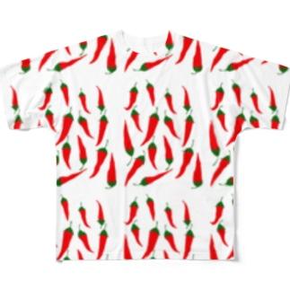 カプサイシン Full graphic T-shirts