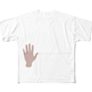 運命の赤い糸くん Full Graphic T-Shirt