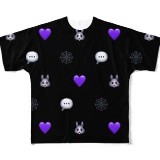 DRUGのRETICENT RABBIT Full graphic T-shirts