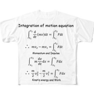運動方程式 Full graphic T-shirts