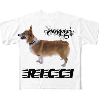 コーギーリッチ Full graphic T-shirts
