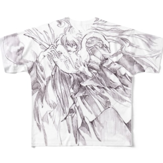 白鳥と魔法使い Full graphic T-shirts