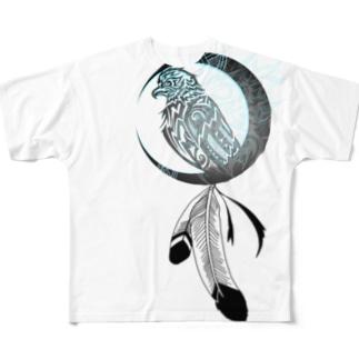 トライバルデザイナー鵺右衛門@仕事募集中の消え掛けの戦士の魂 Full graphic T-shirts