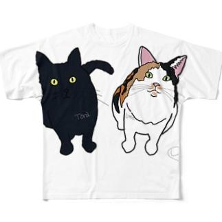タラ&ウメちゃん😝🎈💕 Full graphic T-shirts