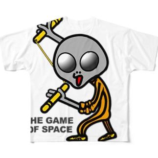 宇宙遊戯2 ヌンチャクバージョン  Full graphic T-shirts
