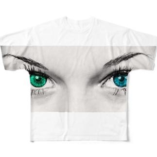 hitomi Full graphic T-shirts