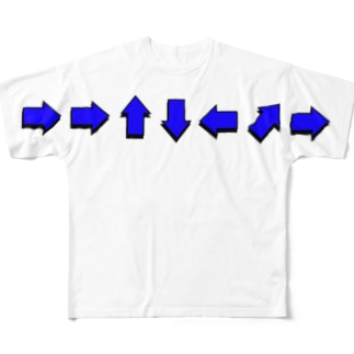 コマンド(ブルー) All-Over Print T-Shirt
