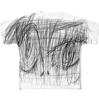 睨むひと Full graphic T-shirts