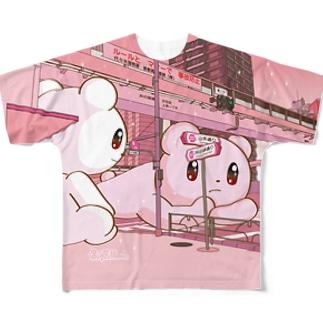 Big Fellows 富ヶ谷交差点 PINK フルグラフィックTシャツ
