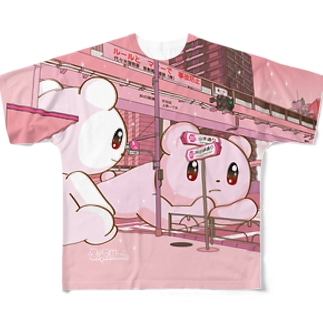 Big Fellows 富ヶ谷交差点 PINK Full graphic T-shirts