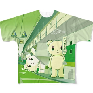 Big Fellows 代々木上原駅 Green Full graphic T-shirts