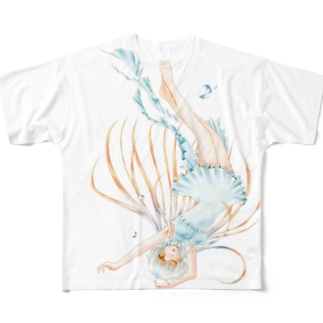 クラゲ Full graphic T-shirts