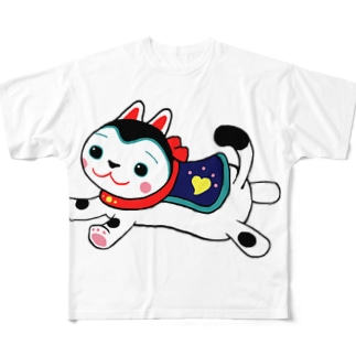 いぬはりこ Full graphic T-shirts