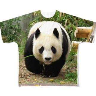 パンダがやって来る Full graphic T-shirts