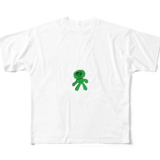 可愛すぎなわかめくん Full graphic T-shirts