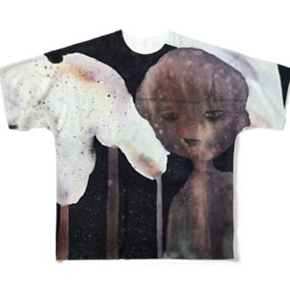 馴染めてるつもりT Full graphic T-shirts
