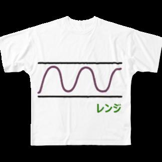 musclerのローソク足(レンジ) Full graphic T-shirts