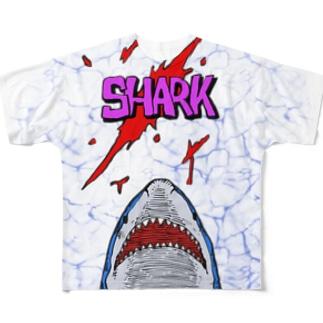 サメサメサメサメ Full graphic T-shirts