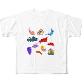 古代生物大集合 Full graphic T-shirts