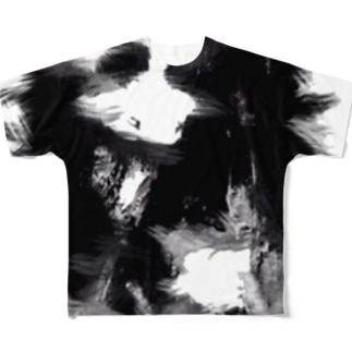 黒白 Full graphic T-shirts