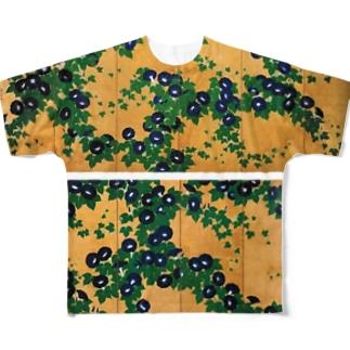 鈴木其一『朝顔図屏風』 Full graphic T-shirts