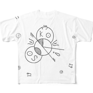 soukouのロゴ Full graphic T-shirts