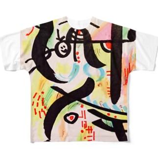 月夜のcroquette&20ペソの水銀探検家 Full graphic T-shirts